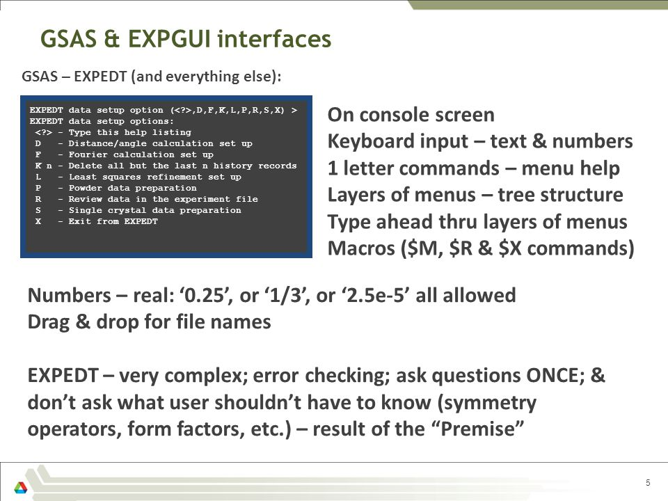 GSAS & EXPGUI interfaces