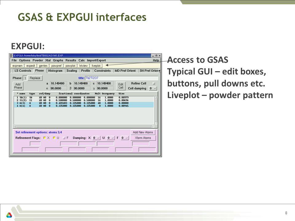 GSAS & EXPGUI interfaces