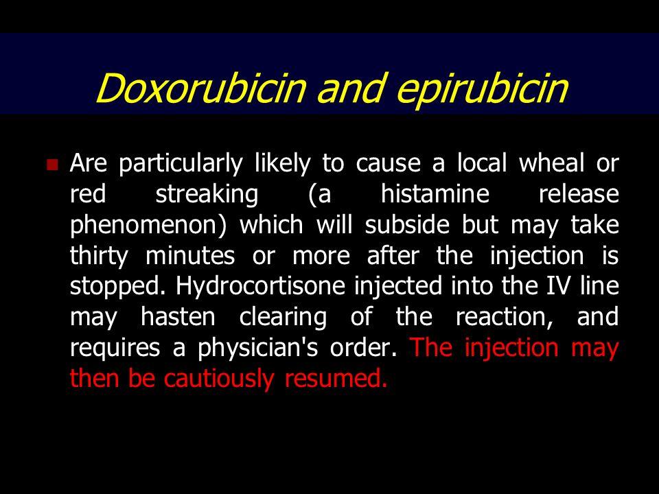 Doxorubicin and epirubicin