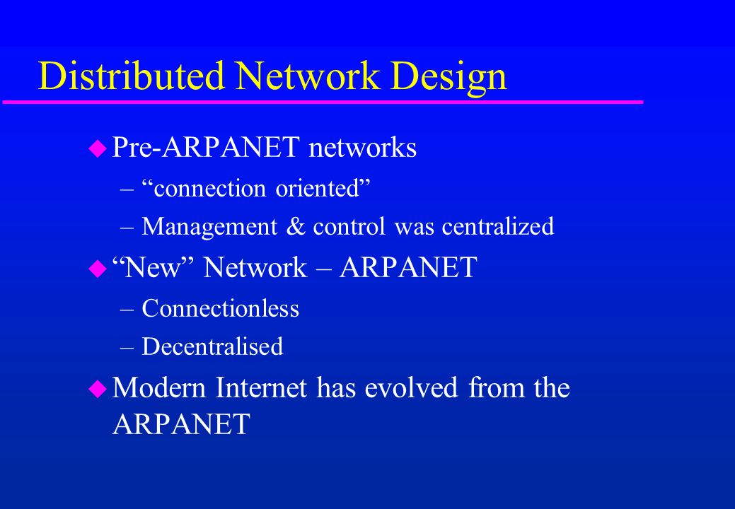 Distributed Network Design