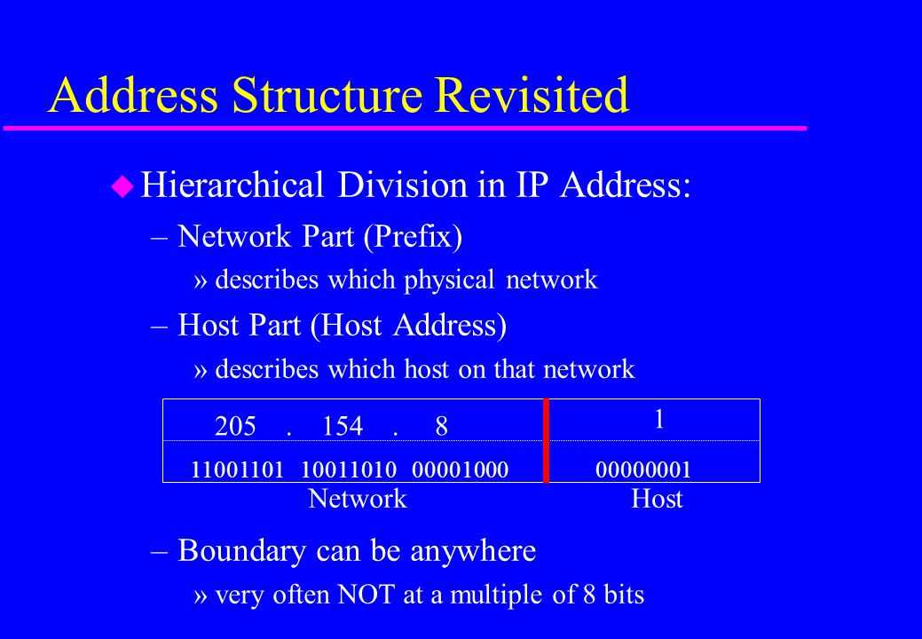 Address Structure Revisited