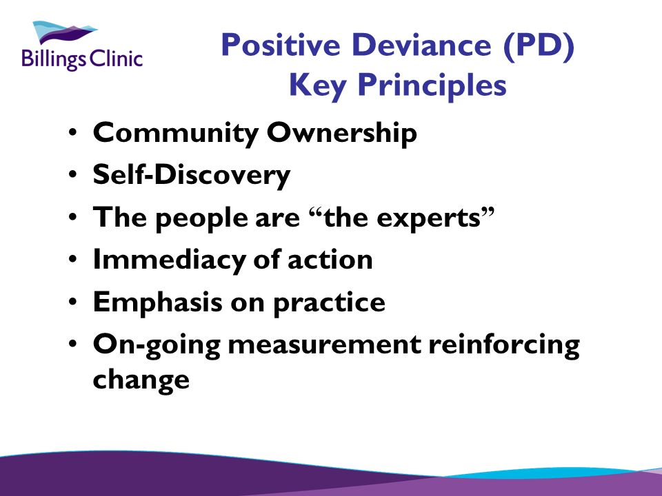 Positive Deviance (PD) Key Principles