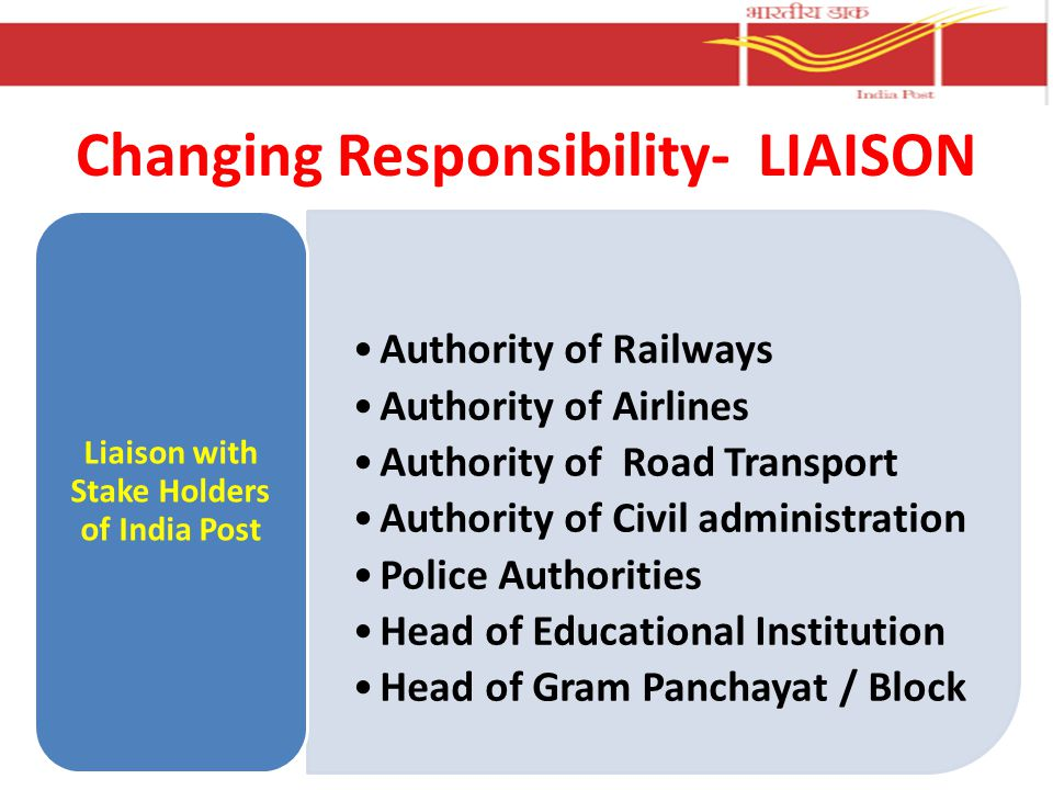 Changing Responsibility- LIAISON