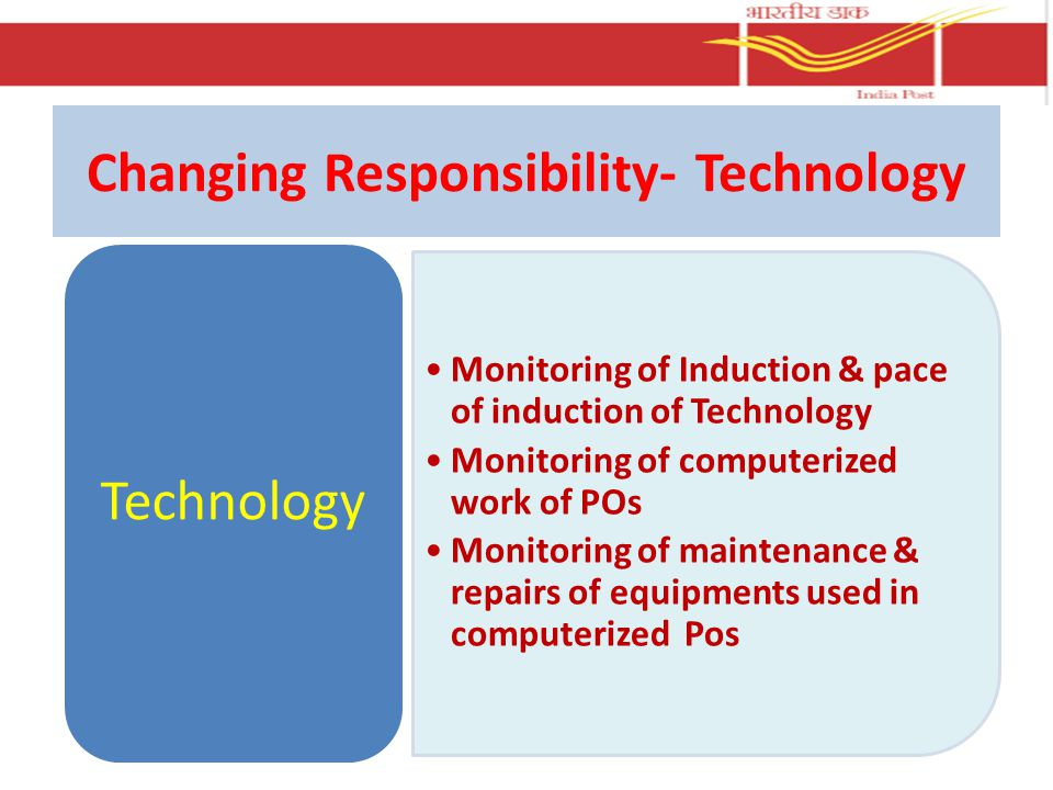 Changing Responsibility- Technology
