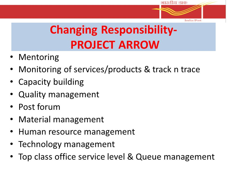 Changing Responsibility- PROJECT ARROW