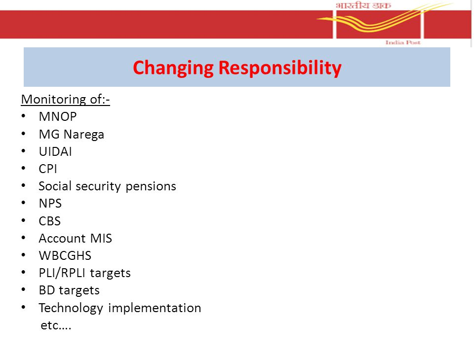 Changing Responsibility