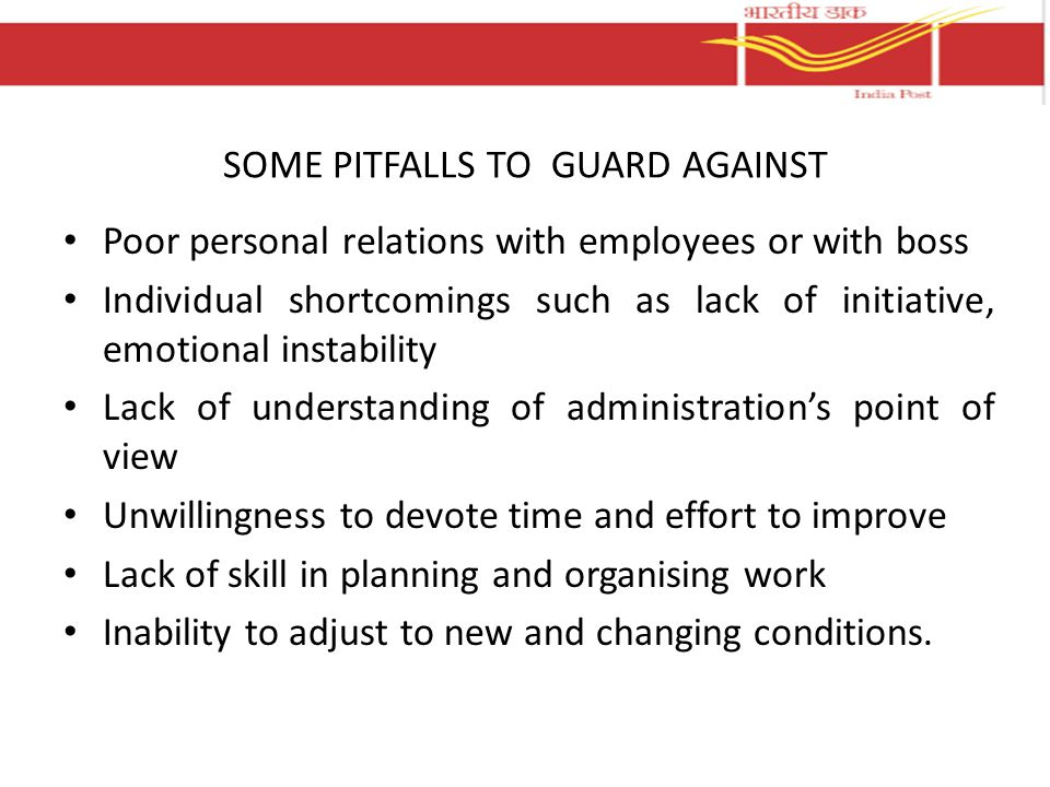 SOME PITFALLS TO GUARD AGAINST