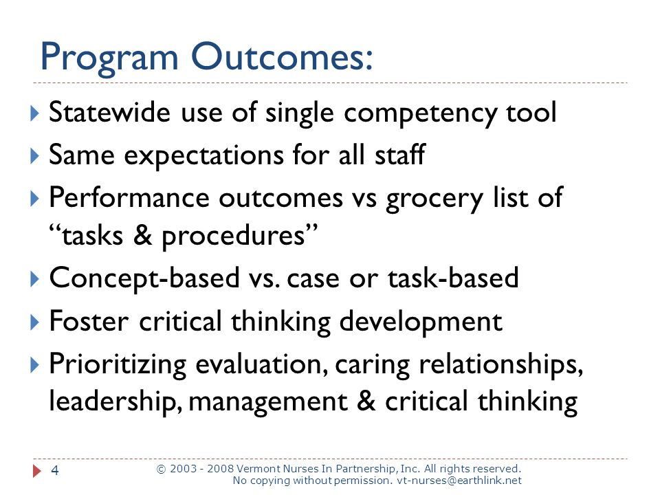 Program Outcomes: Statewide use of single competency tool