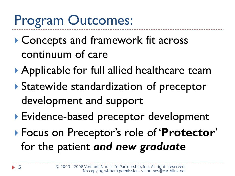 Program Outcomes: Concepts and framework fit across continuum of care