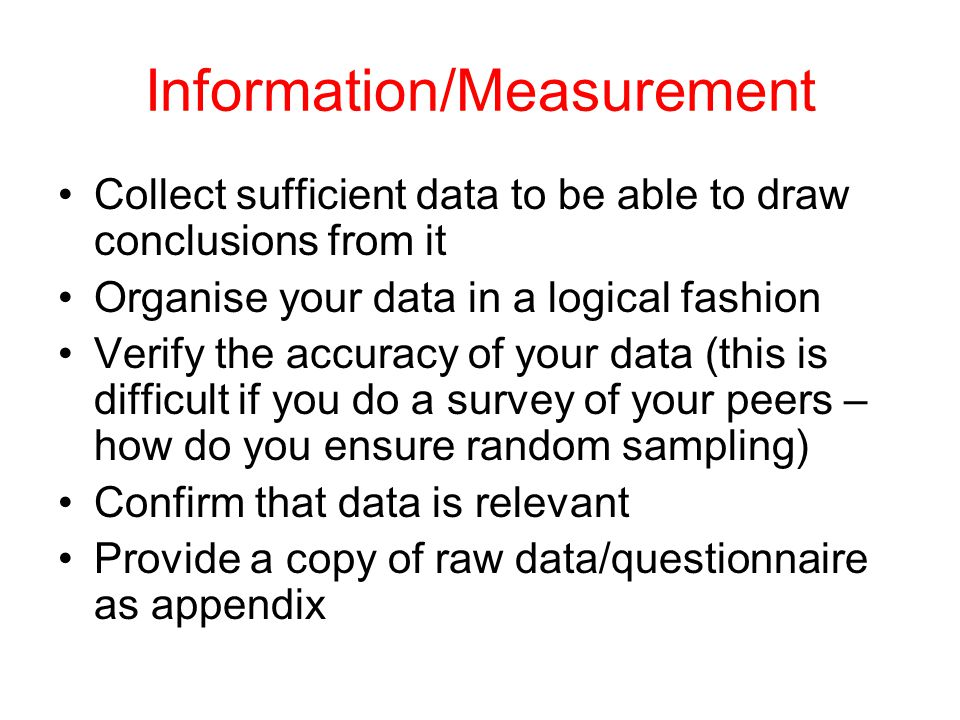 Information/Measurement
