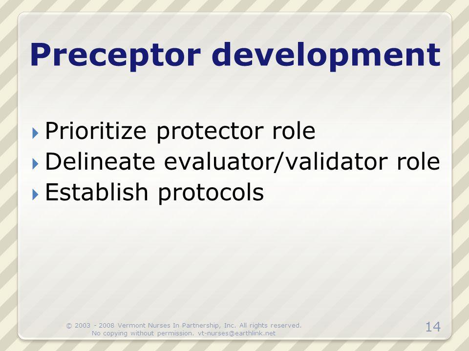 Preceptor development