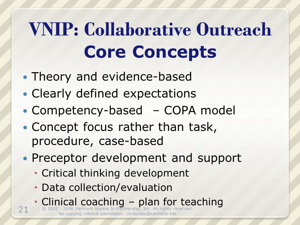 VNIP: Collaborative Outreach Core Concepts