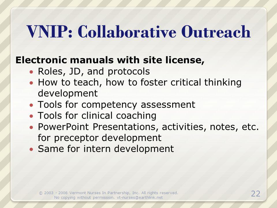 VNIP: Collaborative Outreach