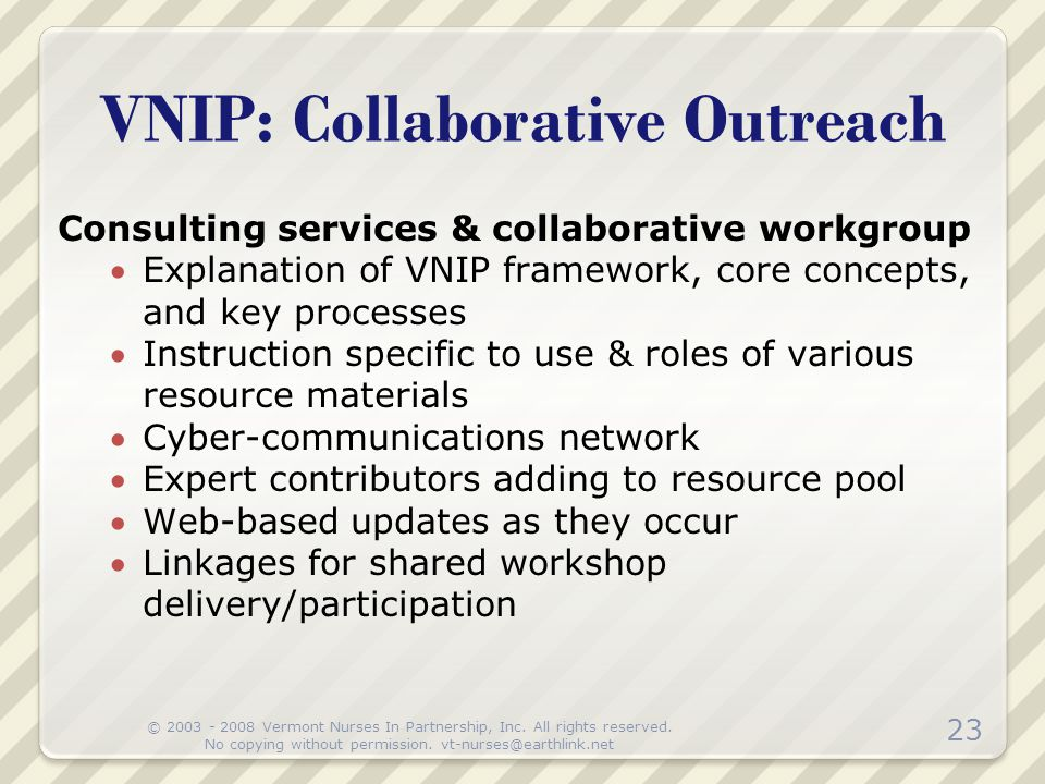 VNIP: Collaborative Outreach