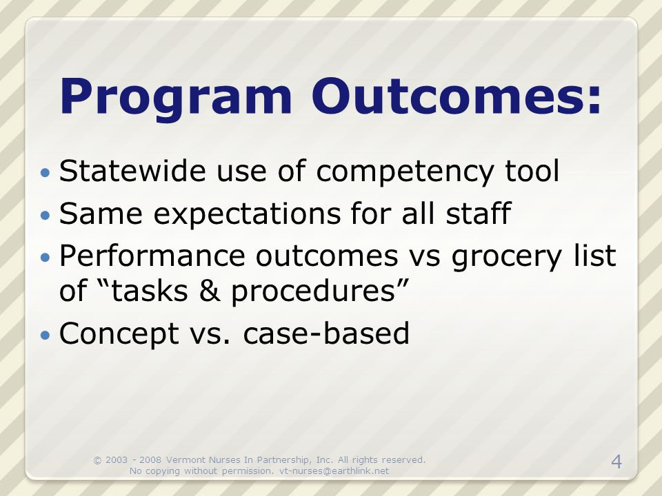 Program Outcomes: Statewide use of competency tool