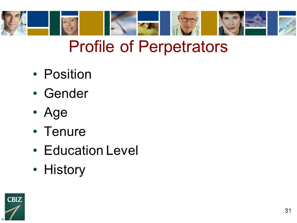 Profile of Perpetrators