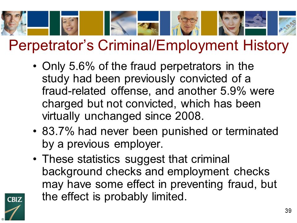 Perpetrator's Criminal/Employment History