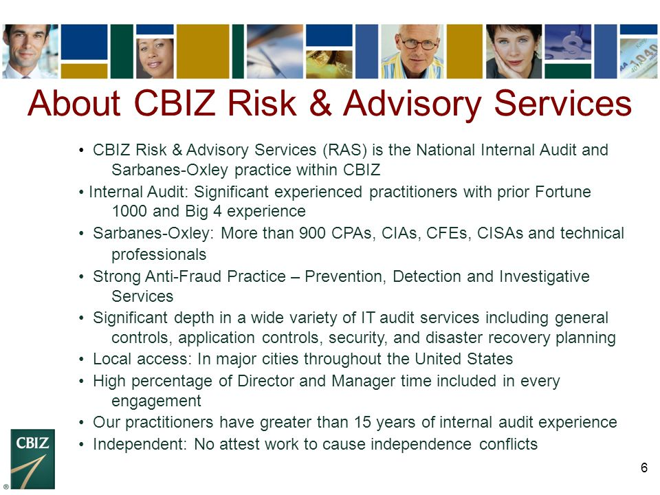 About CBIZ Risk & Advisory Services