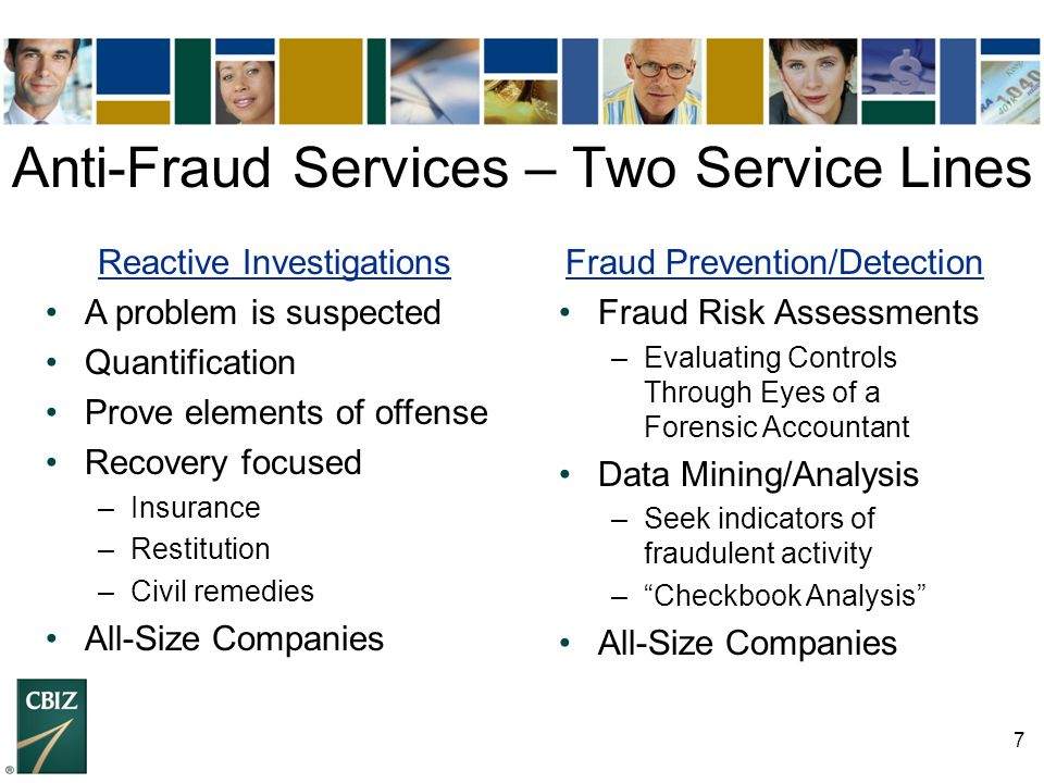 Anti-Fraud Services – Two Service Lines