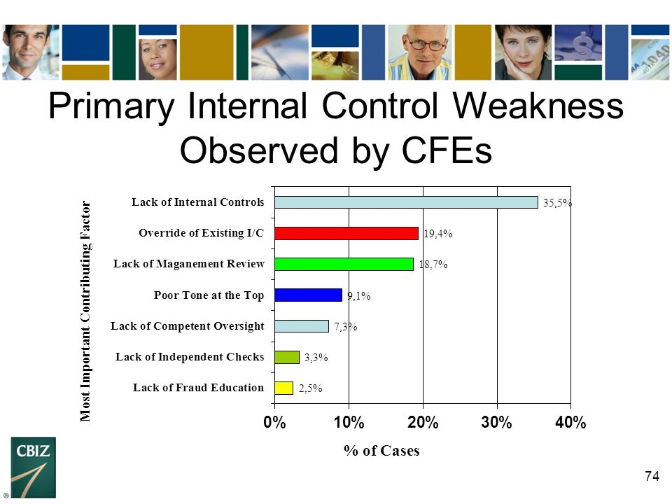 Primary Internal Control Weakness Observed by CFEs