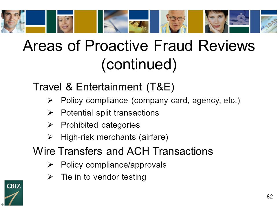 Areas of Proactive Fraud Reviews (continued)