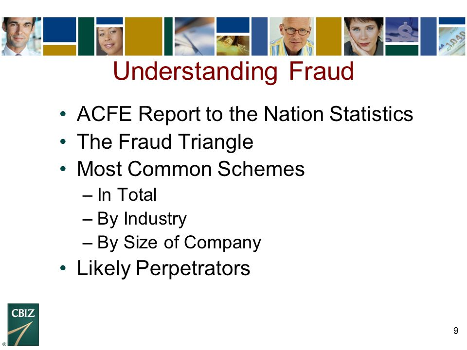 Understanding Fraud ACFE Report to the Nation Statistics