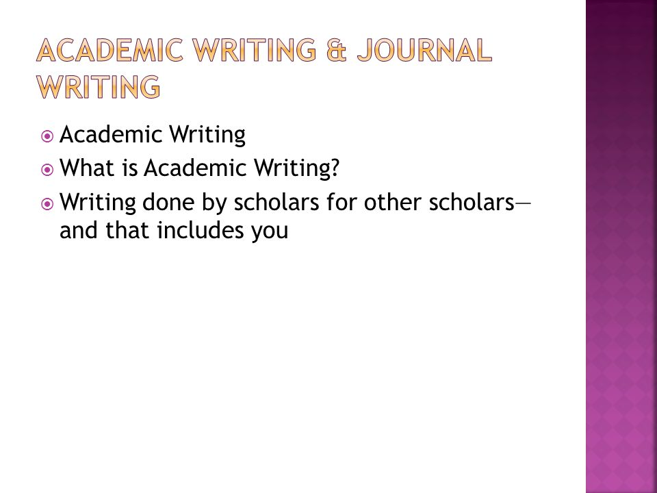 Academic Writing & Journal writing