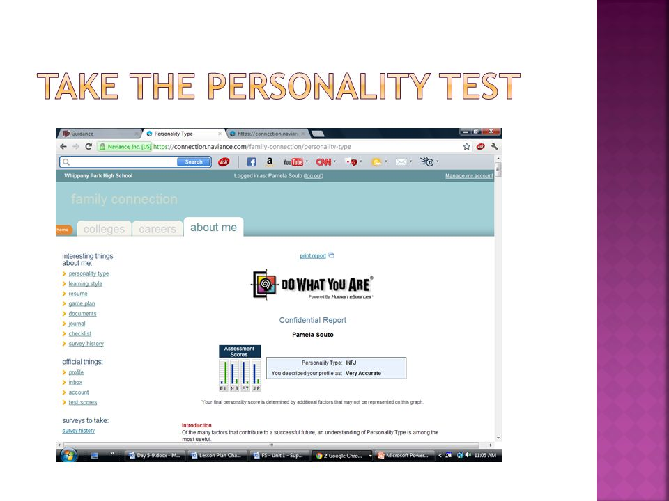 Take the personality test