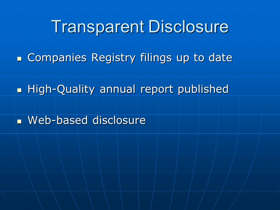 Transparent Disclosure