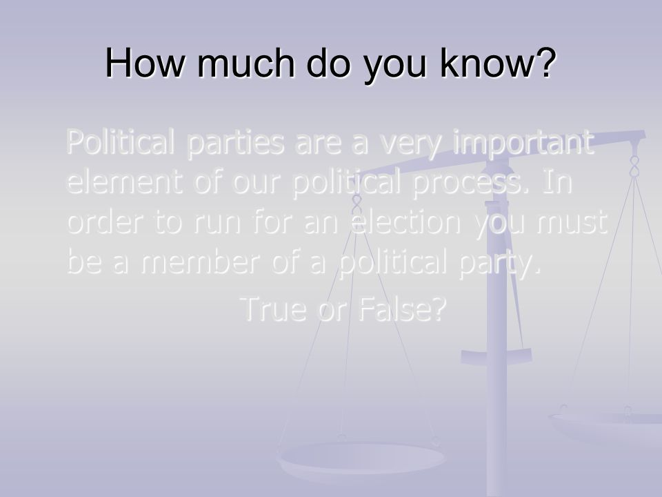 How much do you know True or False