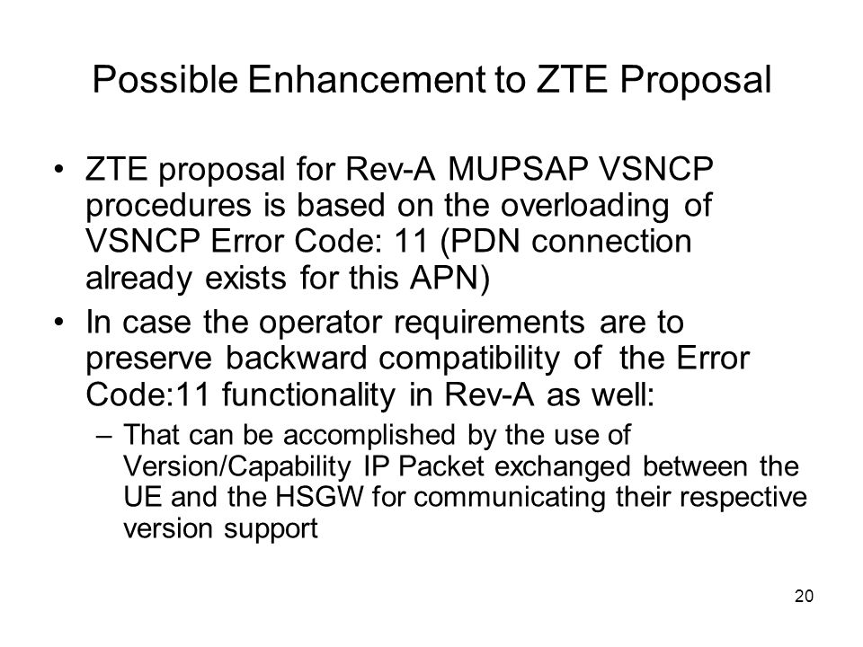 Possible Enhancement to ZTE Proposal