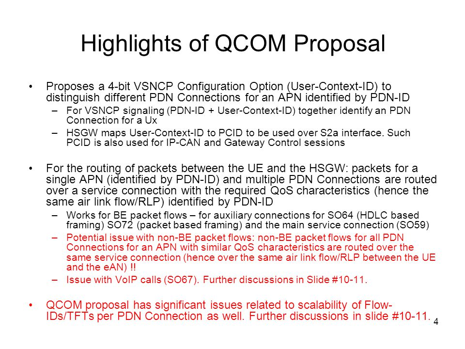 Highlights of QCOM Proposal