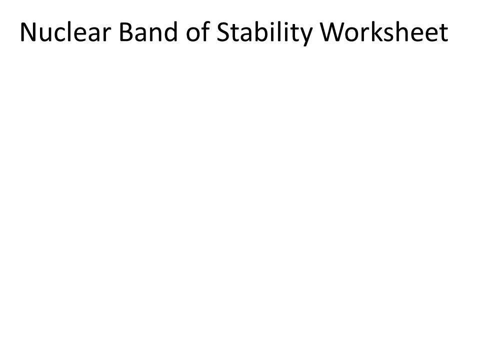 Nuclear Band of Stability Worksheet