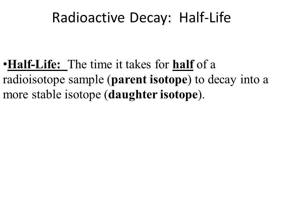 Radioactive Decay: Half-Life