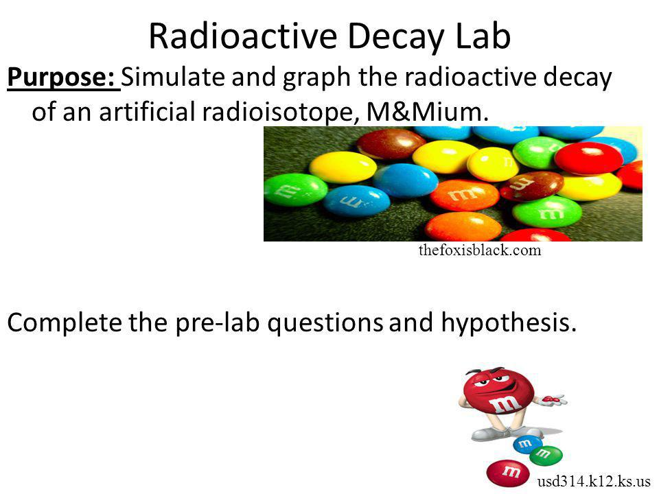 Radioactive Decay Lab