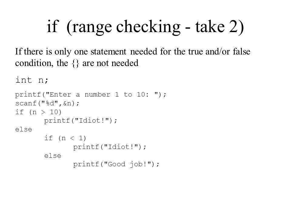 if (range checking - take 2)