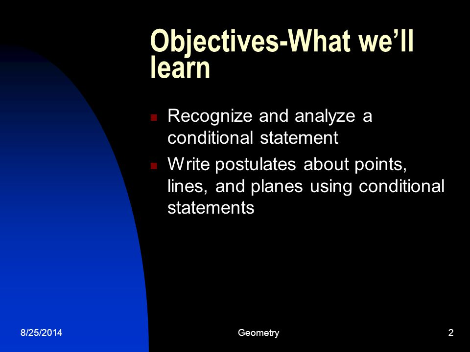 Objectives-What we'll learn