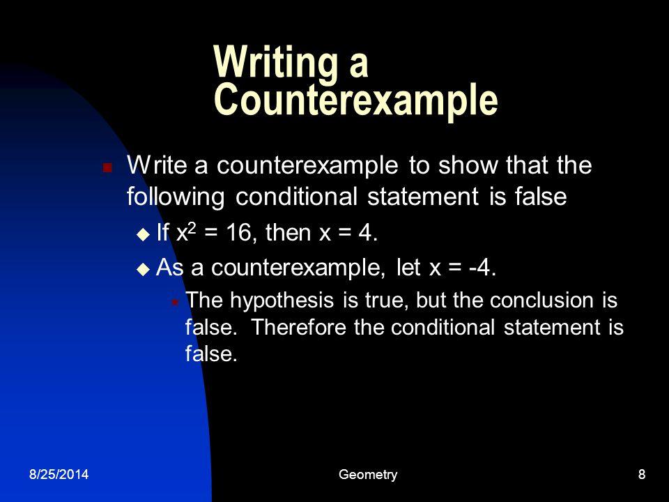 Writing a Counterexample