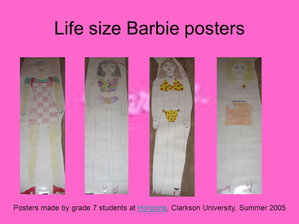 Life size Barbie posters