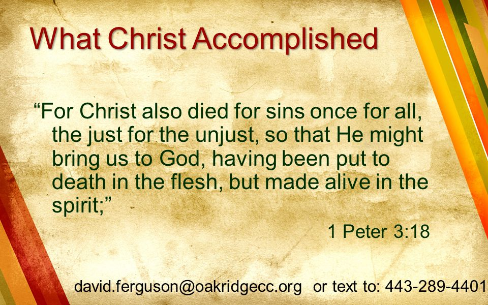What Christ Accomplished