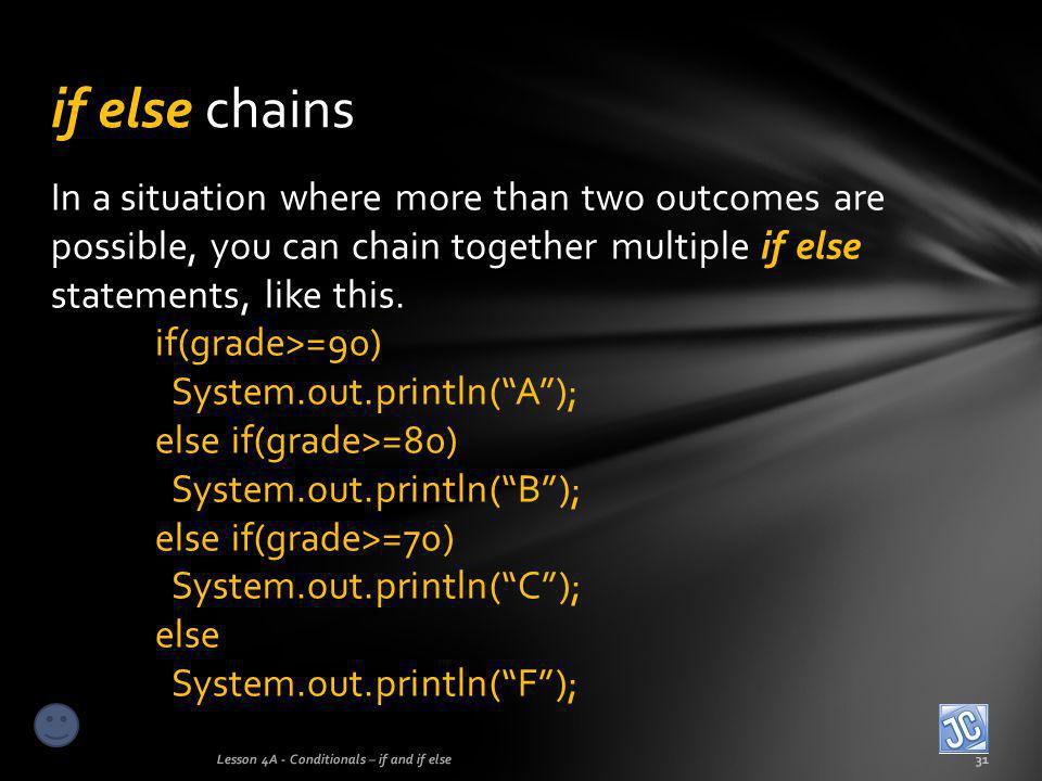 if else chains