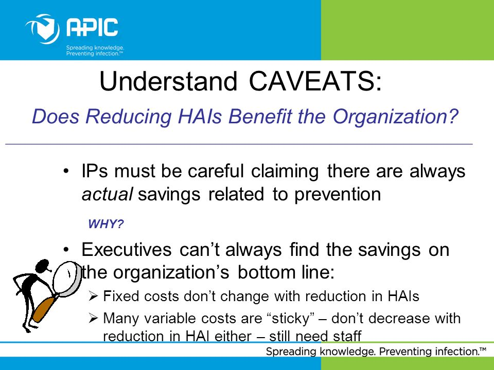 Understand CAVEATS: Does Reducing HAIs Benefit the Organization