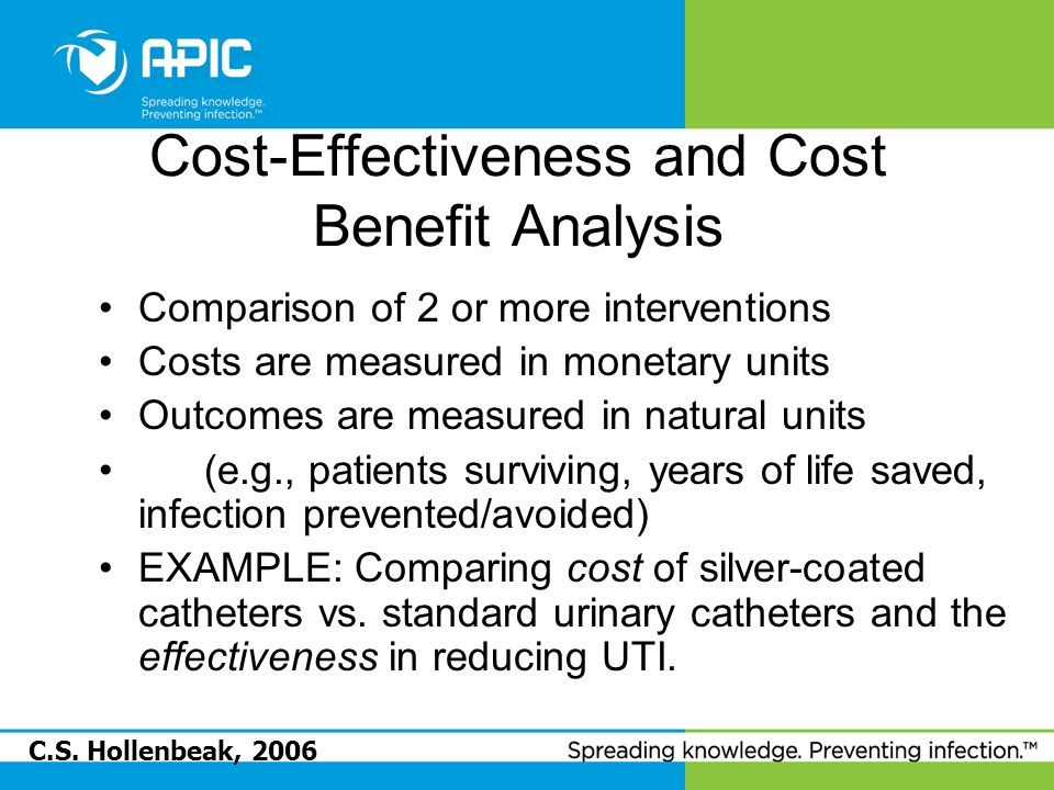 Cost-Effectiveness and Cost Benefit Analysis