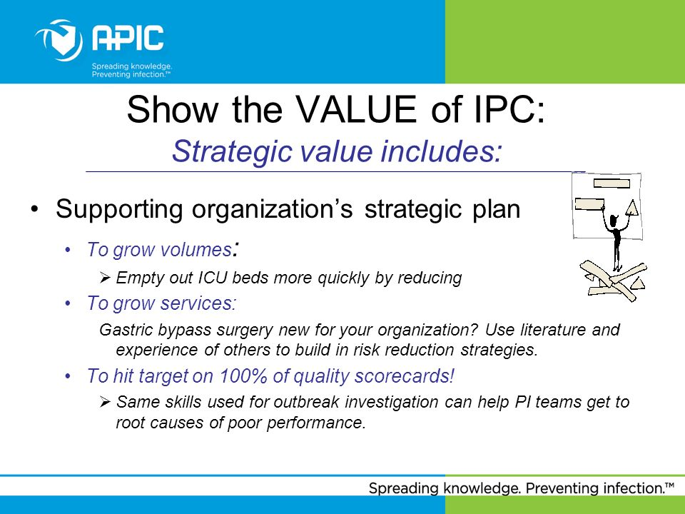 Show the VALUE of IPC: Strategic value includes: