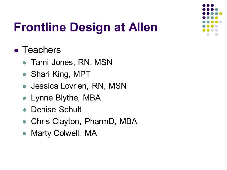 Frontline Design at Allen