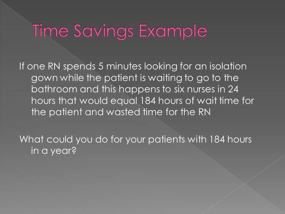 Time Savings Example