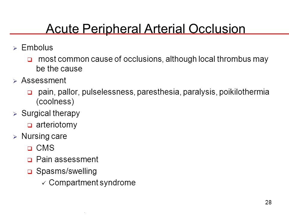 Acute Peripheral Arterial Occlusion