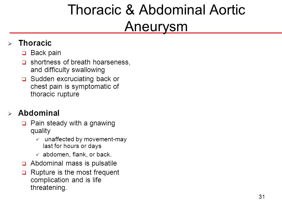 Thoracic & Abdominal Aortic Aneurysm