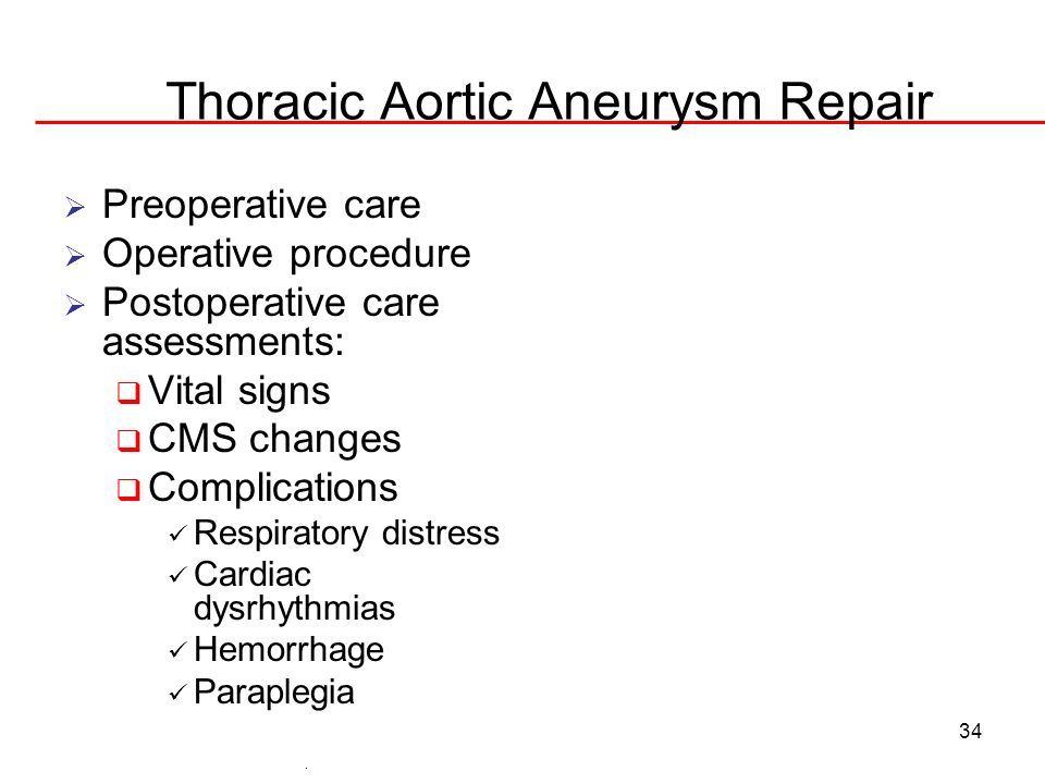 Thoracic Aortic Aneurysm Repair
