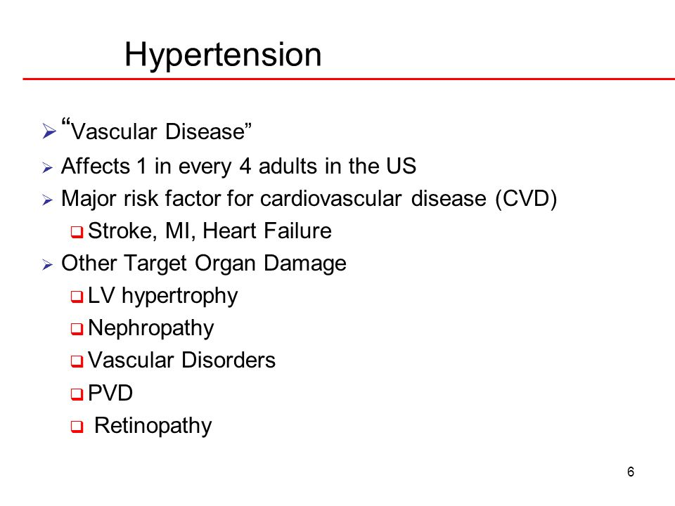 Hypertension Vascular Disease Affects 1 in every 4 adults in the US